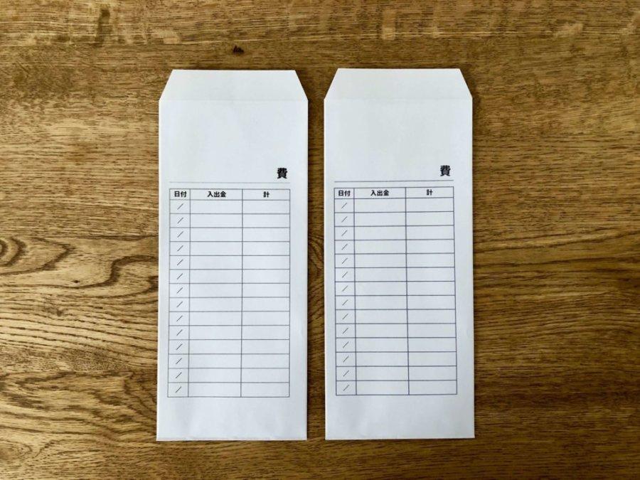 袋分け家計簿の封筒テンプレート