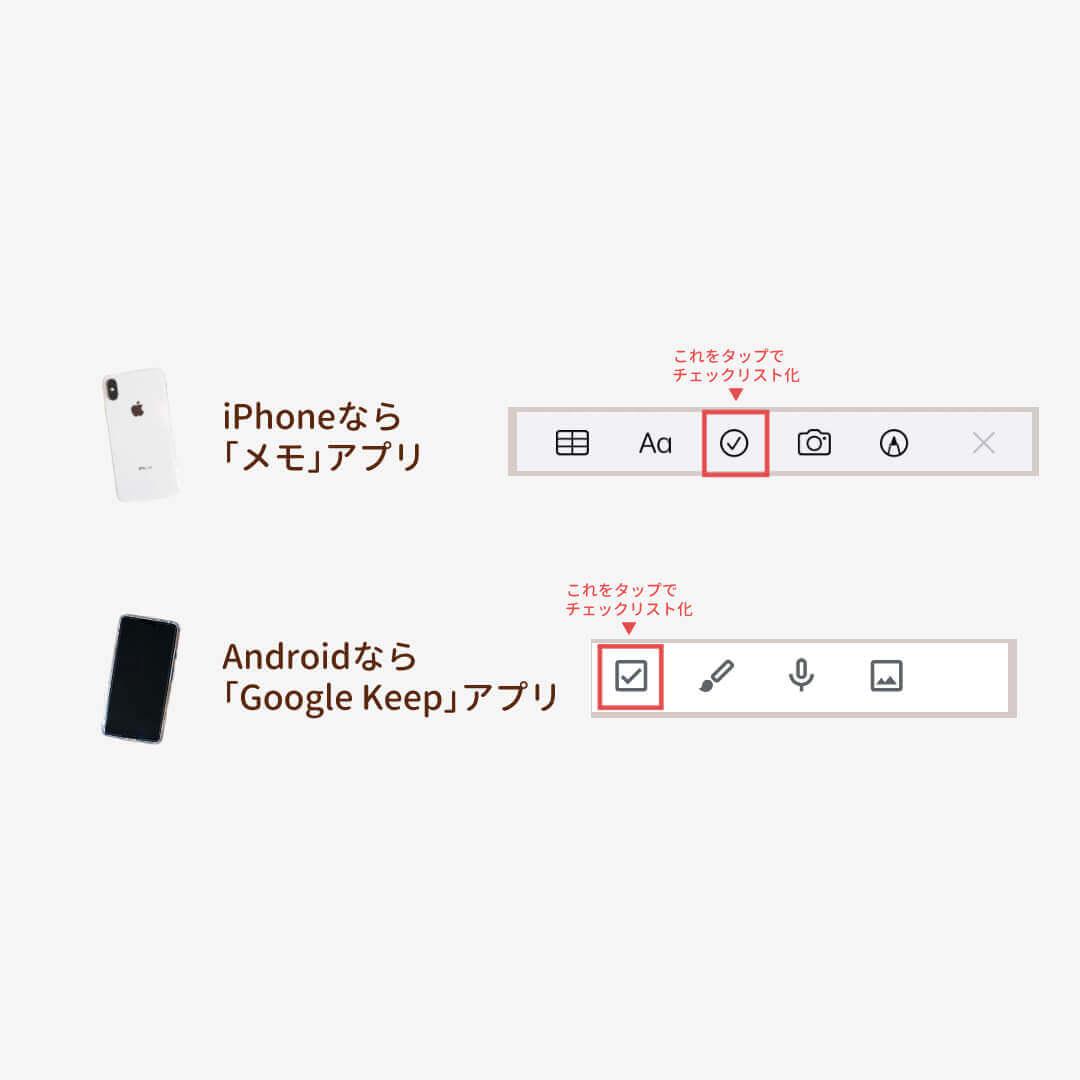 お買い物リスト(在庫管理表、ストックリスト)で使えるメモアプリの使い方